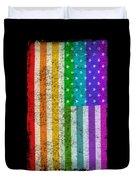 Rainbow Us Flag Duvet Cover