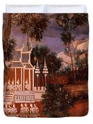 Ramayana Murals In A Palace, Royal Duvet Cover