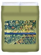 Road Through Colorful Autumn Forest Duvet Cover