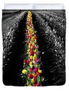 Rows Of Tulips Duvet Cover