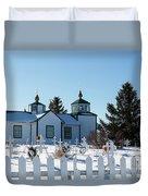 Russian Orthodox Church Ninilchik Alaska Duvet Cover