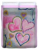 Seven Hearts Duvet Cover