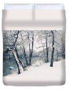 Snow Pond Duvet Cover
