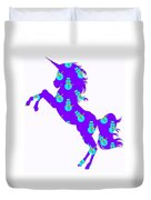Snowman Wrapping Paper Unicorn Duvet Cover