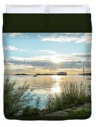 Sunset On The Elbe Duvet Cover