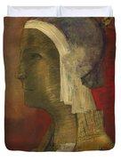 Symbolic Head, 1890 Duvet Cover