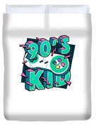 The 90s Gaming Born In The 90s Old Time Gaming Duvet Cover