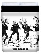 The Beatles Black And White Watercolor 01 Duvet Cover