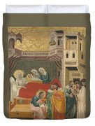 The Birth, Naming, And Circumcision Of Saint John The Baptist Duvet Cover