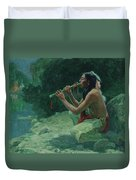 The Call Of The Flute Duvet Cover