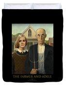 The Farmer And Adele Duvet Cover