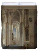 The Interior Of The Buurkerk At Utrecht  Duvet Cover