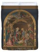 The Nativity With Saints Altarpiece  Duvet Cover