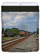 Train In Motion Duvet Cover