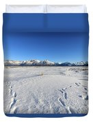 Turnagain Arm And Chugach Range From Hope Alaska Duvet Cover