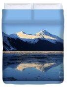 Turnagain Arm And Kenai Mountains Alaska Duvet Cover