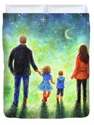 Twilight Walk With Mom And Dad Duvet Cover