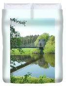Union Bridge At Horncliffe On River Tweed Duvet Cover