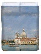 Venice, Santa Maria Della Salute From San Giorgio - Digital Remastered Edition Duvet Cover