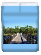 Western Lake Bridge Duvet Cover