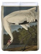 Whooping Crane  From The Birds Of America  Duvet Cover
