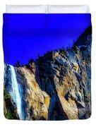 Winter Bridalveil Falls Duvet Cover