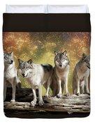 Wolf Pack Duvet Cover