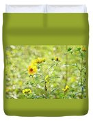 Yellow Flowers Duvet Cover