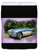 1956 Austin Healey 100-4 M  Duvet Cover