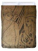 Kintu And Nambi Kintus Tasks  Duvet Cover