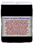 Murphy's Law Of Nature Duvet Cover