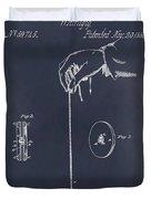 1866 Yo-yo Whirligig Blackboard Patent Print Duvet Cover