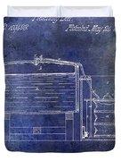 1870 Beer Preserving Patent Blue Duvet Cover