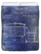 1870 Beer Preserving Patent Blue Duvet Cover