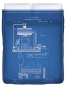 1885 Furnace Patent Duvet Cover