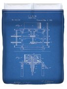 1885 Grist Mill Patent Duvet Cover