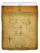 1885 Hunting Decoy Patent Duvet Cover