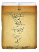 1885 Plow Patent Duvet Cover