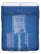 1885 Pool Rack Patent Duvet Cover