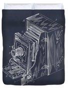 1887 Blair Photographic Camera Blackboard Patent Print Duvet Cover