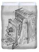 1887 Blair Photographic Camera Gray Patent Print Duvet Cover