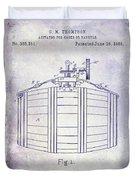 1888 Whiskey Or Beer Barral Patent Blueprint Duvet Cover