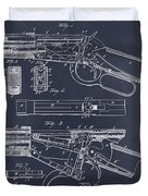 1894 Winchester Lever Action Rifle Blackboard Patent Print Duvet Cover