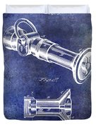 1896 Fire Hose Spray Nozzle Patent Blue Duvet Cover