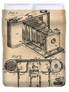 1899 Photographic Camera Patent Print Antique Paper Duvet Cover