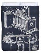 1899 Photographic Camera Patent Print Blackboard Duvet Cover