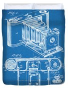 1899 Photographic Camera Patent Print Blueprint Duvet Cover