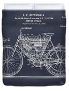 1901 Stratton Motorcycle Blackboard Patent Print Duvet Cover