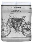 1901 Stratton Motorcycle Gray Patent Print Duvet Cover