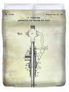 1902 Beer Patent Duvet Cover